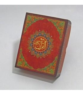 قرآن کریم عثمان طه (بدون ترجمه،گلاسه،باجعبه،چرم،لب طلایی)